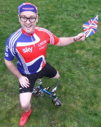 Olympic comedy cyclist