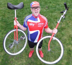 Olympic themed unicyclist