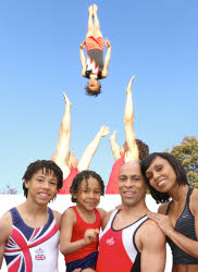 Guinness world record hlding acrobats with Olympic themed entertainment