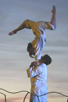 Claire Ashmore and partner - acro duo.