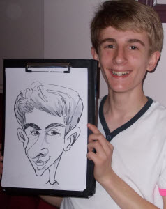 caricature by Rich Russell