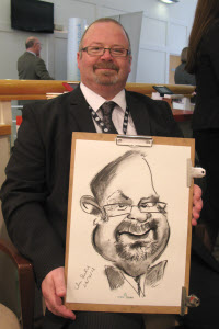Chris Pavlick caricaturist from aurorascarnival.co.uk