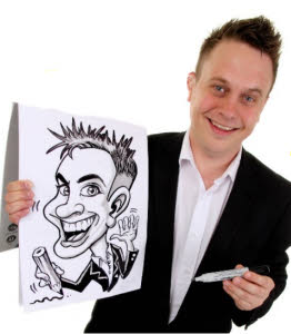 Rich Russell caricaturist from aurorascarnival.co.uk