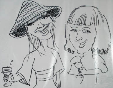 caricature by Rich Russell from aurorascarnival.co.uk