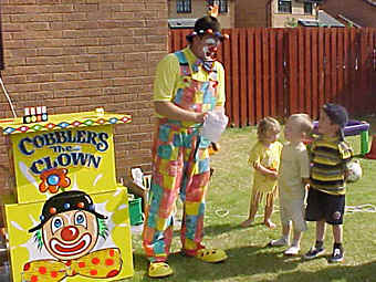 Cobblers entertains at a birthday party