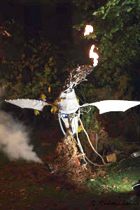Fire breathing robotic dragon