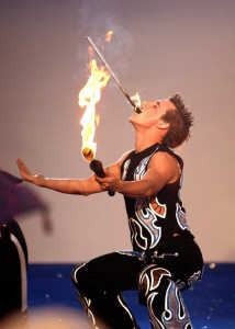 Flame Oz fire eating