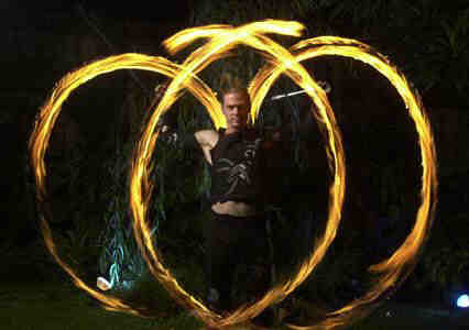 Flame Oz fire performers for corprate events