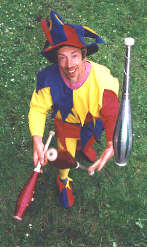 Kris Katchit - Medieval Jester for the past 11 years at the Ludlow Festival of Crafts.