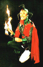 The Jolly Jester - fire performer