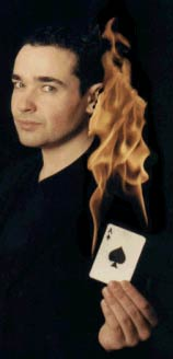 Marc Oberon, master magician. Available to book through Aurora's Carnival.