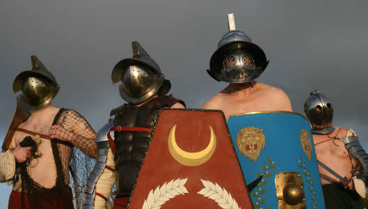 Gladiators re-enactors