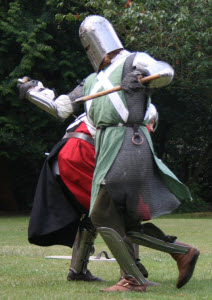 medieval fighting knights