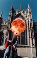 Fire Breathing from a Celtarabia fire performer.
