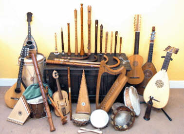 Minstrels Gallery the instruments