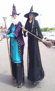 Kris with his partner Vanity as wizard and witch launching the Harry Potter video at Big W in Newark.