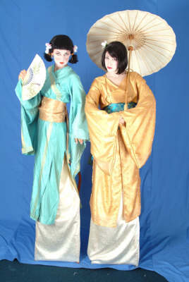 Surface Tension Geisha stiltwalkers