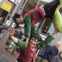 Acrobatic elves from circusperformers.co.uk and Auroras Carnival