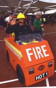 Bob motorised fireman walkabout act