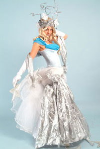 The Ice Queen visits at Christmas  from circusperformers.co.uk and Auroras Carnival