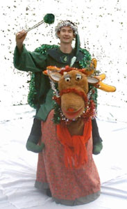Sigmund the Singing Reindeer  from circusperformers.co.uk and Auroras Carnival
